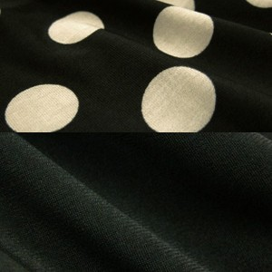 Black with beige dots