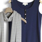 Navy with striped stole