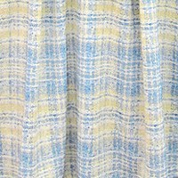 Plaid yellow blue