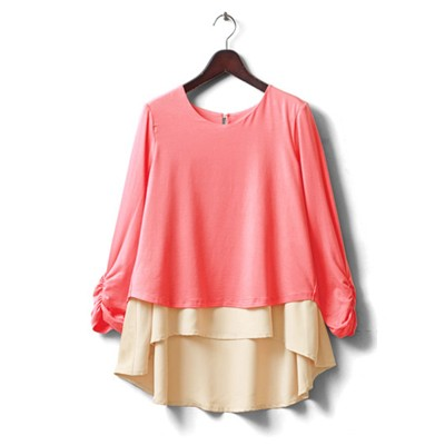 Coral - long sleeves