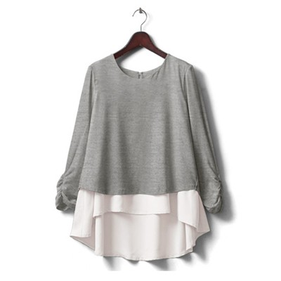 Melange grey - long sleeves